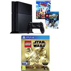 Amazon Ligtning Deal - £179.99 Sony PlayStation 4 500GB Console + Lego Batman 3: Beyond Gotham + The Lego Movie [Blu-ray + UV Copy] + Lego Star Wars the Force Awakens Deluxe Edition