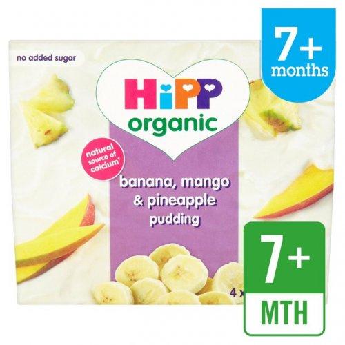 HiPP Organic Banana, Mango & Pineapple Pudding 4 x 100g 39p at Herons Hull