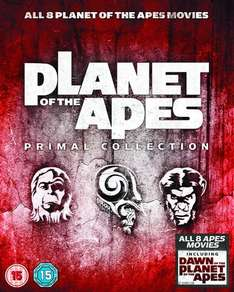 Planet Of The Apes: Primal Collection 1-8 Box Set Blu-ray  £9.99  Zavvi