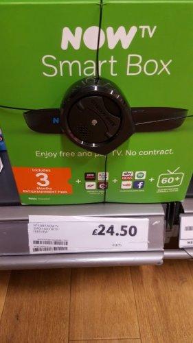 NOW TV  SMART BOX. +3 months entertainment instore tescos  Mansfield , few still left £24.50