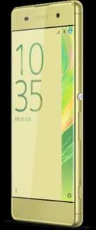 Sony Xperia XA on O2 PAYG in black and lime gold £139.99 @ O2