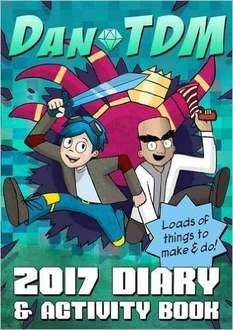 DanTDM Diary and activity book @ Amazon - half price £4.99 (£7.98 Non-Prime)