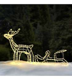 reindeer sleigh outdoor christmas light £21.99 delivered at Studio
