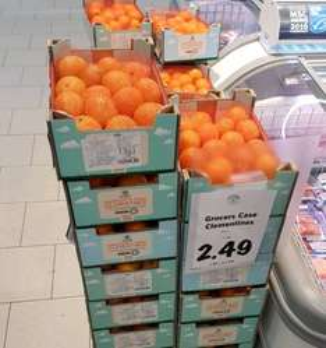 Clementines (Grocers Case) 2.3kg @ Lidl £2.49