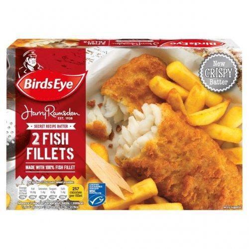 Birds Eye Harry Ramsdens Fish Fillets (Alaskan Pollock 49%) in Batter 2 Pack (200g) Only £1.00 @ Morrisons