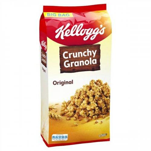 Kellogg's 1.5kg Big Bag Original Crunchy Granola £1.49 instore @ Heron Foods