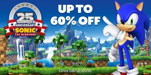 Sonic 25th anniversary sale Nintendo eshop. including 3d Sonic the hedgehog £2.05