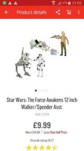 starwars the force awakens figure and vehicle £9.99 @ Argos