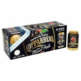 30 cans 9.9 litres 3 X Selected kopparberg cider 10  pks £20 @ Asda