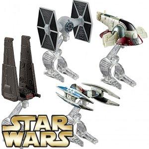 Star Wars Hot Wheels: Villain Starship Die-Cast Vehicle 4 Pack - £9.99 - Home Bargains