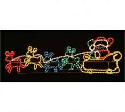 Silhouette Santa and 4 Reindeer - Multicoloured £32.99 @ Argos