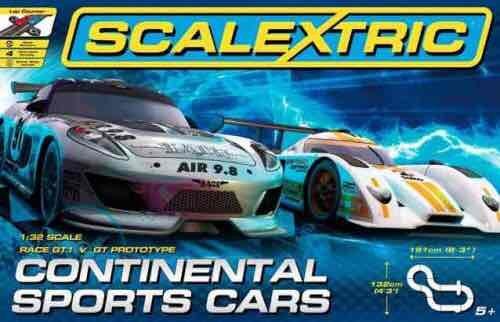 Scalextric Continental sports car set £32.29 Amazon