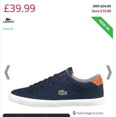 up to 75% OFF Lacoste men's trainers now you pay only £39.99 at mandmdirect