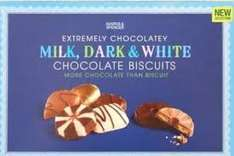 M&S Extremely Chocolatey Milk, Dark & White Biscuits - Half Price £3