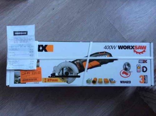 Worx 400W Mini Circular Saw £20 @ Homebase East Kilbride