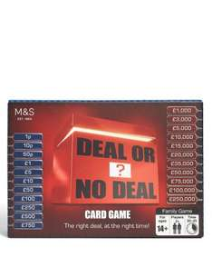 ITV's The Chase and Deal or No Deal Travel Card Games £5 each @ Marks & Spencer RRP £10 Buy 2 get 1 FREE