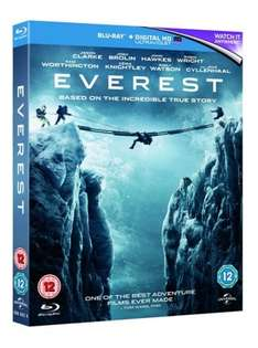 Everest (with Digital Copy) [Blu-ray] £4.81, DVD £2.96 including free delivery using code SIGNUP10 @ zoom.co.uk