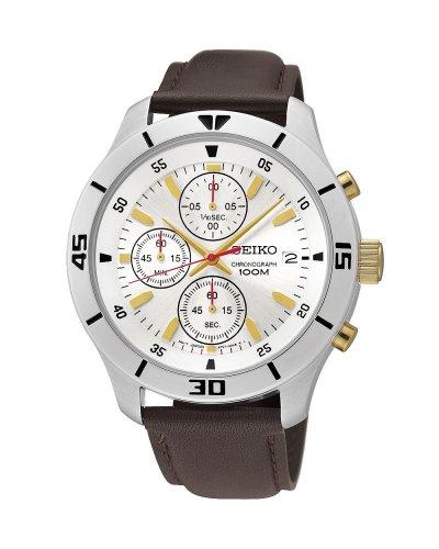 Seiko Men's Chronograph Brown Leather Strap Watch  £46.49  Argos/eBay