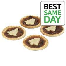 Tesco Bakery Mince Pies 4pk (Shortcrust or Puff Pastry) 2 for £1.00 @ Tesco