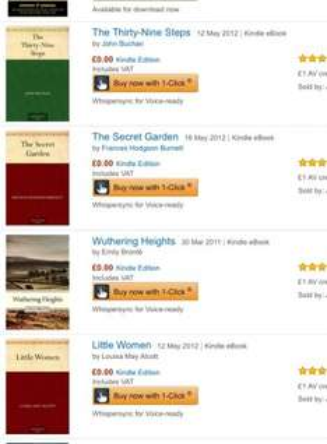 Lots of free kindle classic books @ Amazon Sherlock Holmes, Little women etc.