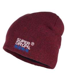 New Unisex Superdry Windhiker Embroidery Beanie Redleaf Twist £8.99 / Basics model £6.99 @ Superdry on eBay [rrp 14.99]