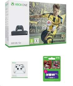 £229.99 500GB Xbox One S Storm Grey With FIFA 17, Extra White Wireless Controller and NOW TV 2 Month Sky Cinema Pass@ game.co.uk