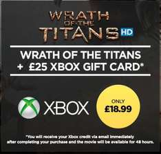 £25 Xbox Live Credit Plus Wrath of the Titans HD - £18.99 - Wuaki.TV