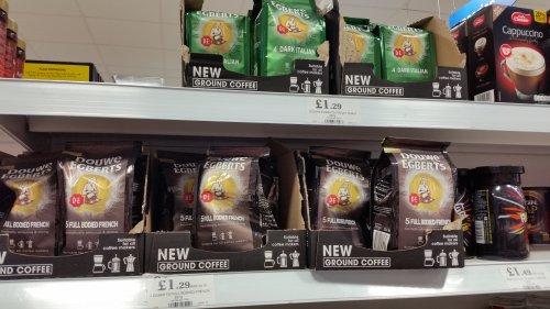 Douwe Egberts Ground Coffee Dark Italian (4) or Full French (5)  227g, £1.29 instore @ Home Bargains