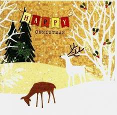 Christmas Cards (Reindeer) 30 for £1 and 10 for £1 - LIDL - Two designs and sizes
