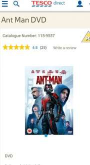 Antman DVD £7 in @ Tesco Direct
