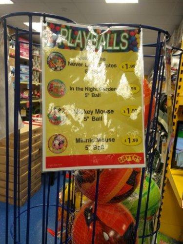 Children Play balls £1.99 smyths toys (instore)