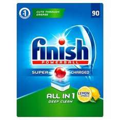 90 X Finish Powerball All in 1 Lemon Sparkle Dishwasher Tablets £9.00 @ Asda