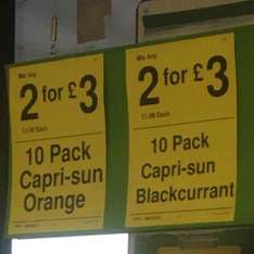 Capri sun 2 for £3 farmfoods Colne