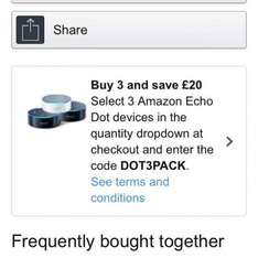Amazon Echo Dot - £20 off 3 Pack - £129.97 @ Amazon (using code) or Buy 6 & get 1 of them Free