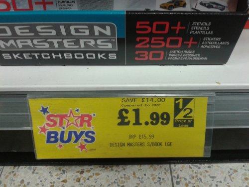Design Masters Lamborghini Sketchbook £1.99 @ Home Bargains