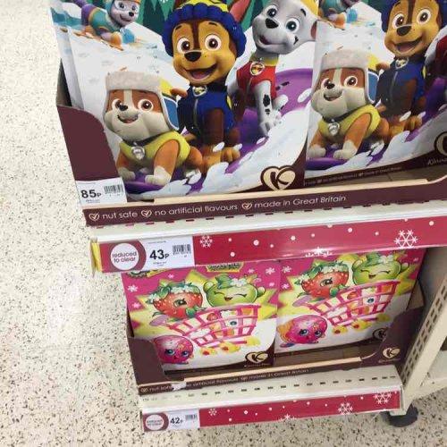 half price advent calendars at Wilko - 42p instore