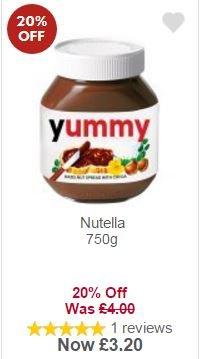 Nutella 750g £3.20 with MyPicks at Waitrose