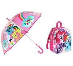 my little pony umbrella and decent sized backpack - £9.99 @ Argos
