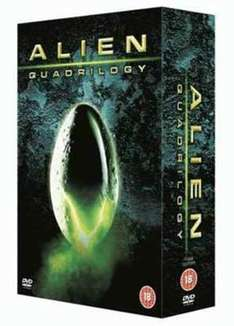 ALIEN QUADRILOGY 9 Disc DVD  USED Box set for £2.37 (using code CLOUD15) @ Music Magpie
