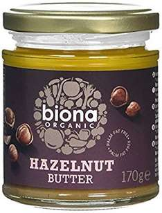 Amazon S&S Biona Hazelnut Butter 170g Pack of 3 £4.27 s&s / Add on item