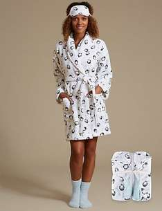 50% off selected women's Pyjama and dressing gown sets (sets include eye masks, socks and dressing or pjs - depending on set) See post for details @ M&S