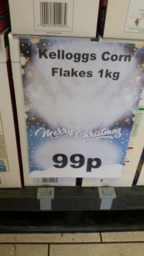 kelloggs Corn Flakes 1kg box 99p @ Heron