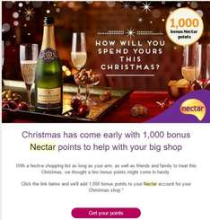 Free 1.000 Nectar points over Christmas