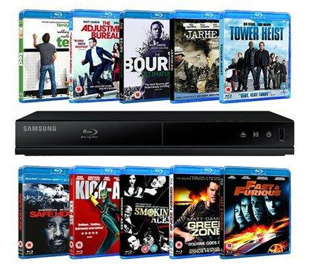 Samsung Blu-Ray Player + 10 Blu-Rays £54 @ Zoom + possible 4.6% TCB