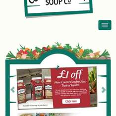 Covent Garden soup £1off the new flavours at Sainsburys