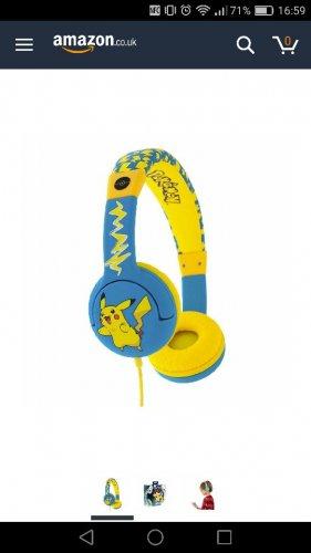 Pokemon headphones £15 at Asda instore