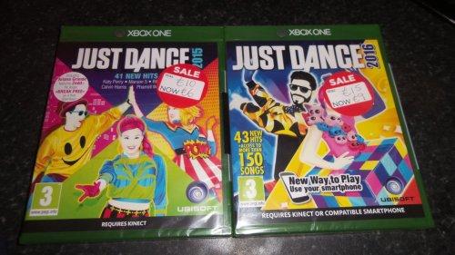 JUST DANCE  2015 £6 2016 £9 XBOX ONE ASDA instore - Dunfermline