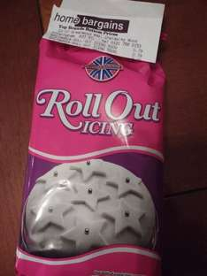 Roll Out Fondant Icing 500g 79p - Home Bargains Chelmsley Wood