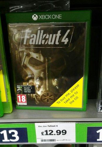 Fallout 4 Xbox one £12.99 @ Sainsbury's