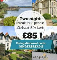Two Nights for the Price of One Hotel Break £74.99 @ Buyagift with codes